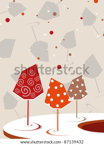cocktail glass concept background, vector illustration - stock vector