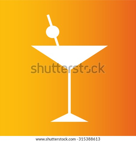 cocktail glass icon Vector EPS 10 illustration.