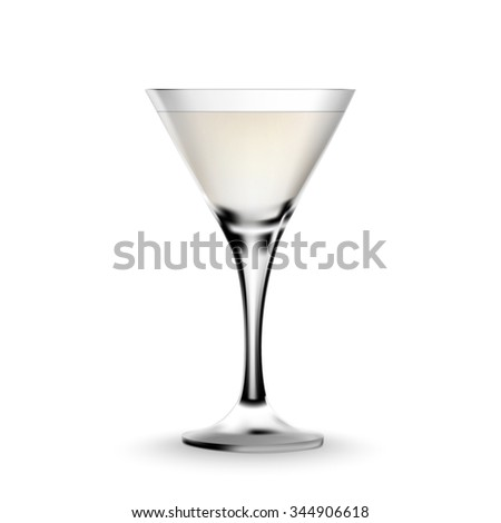 Cocktail glass on a white background - stock vector