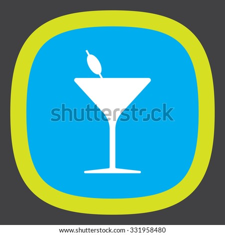 cocktail glass vector icon