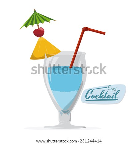 cocktail graphic design , vector illustration