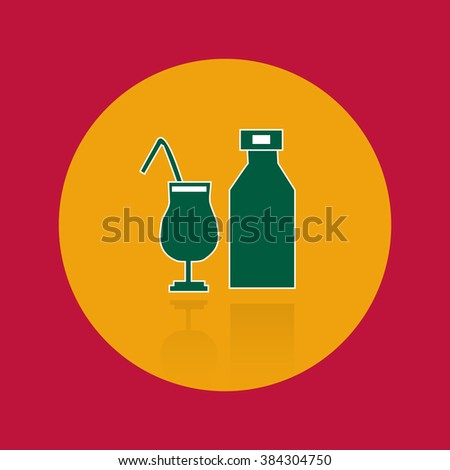 Cocktail icon,eps 10 - stock vector