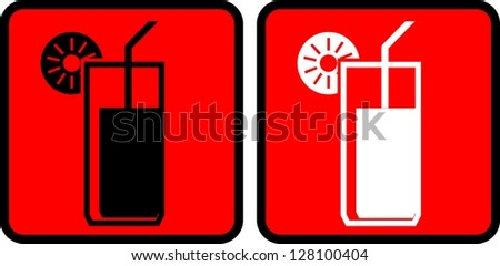 Cocktail icon, Vector - stock vector