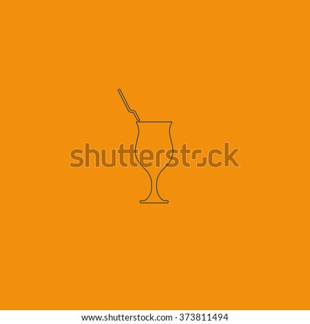 Cocktail illustration. Glass icon. - stock vector