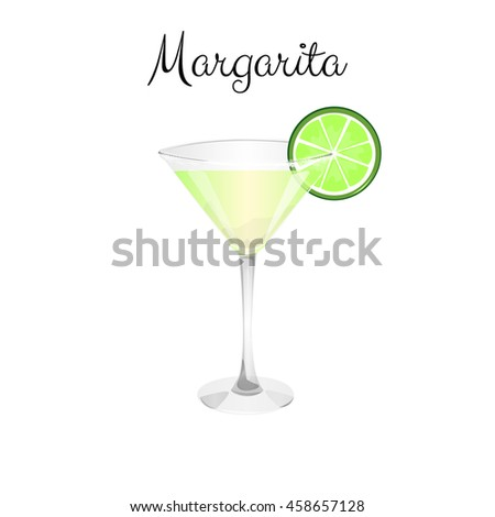 Cocktail Margarita. Alcohol drink vector illustration