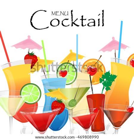 Cocktail menu design template