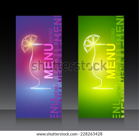 Cocktail party design menu background  - stock vector