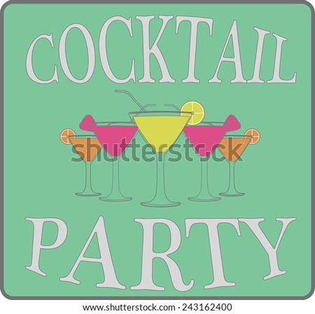 Cocktail party, vector, illustration