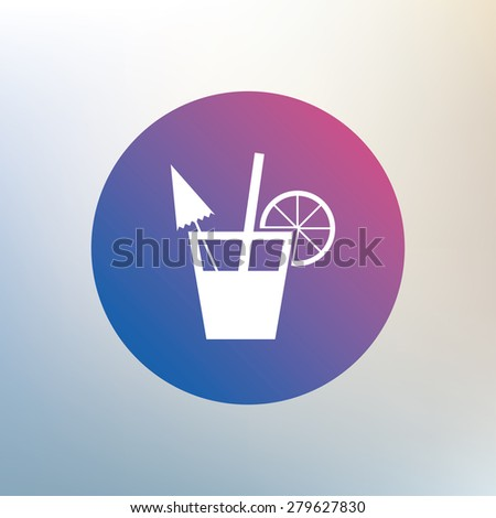 Cocktail sign. Alcoholic drink symbol. Icon on blurred background. Vector - stock vector