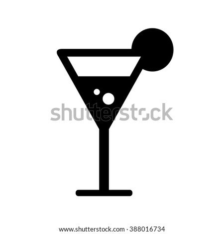 Cocktail, vector icon.