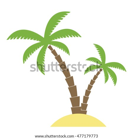 Coconut palm vector. Flat design for business financial marketing banking advertisement commercial web internet tourism tourist travel holiday in minimal concept cartoon illustration.