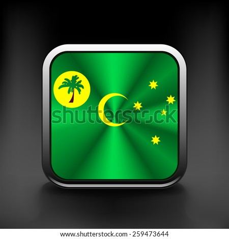Cocos and Keeling Islands flag icon. See also vector version - stock vector