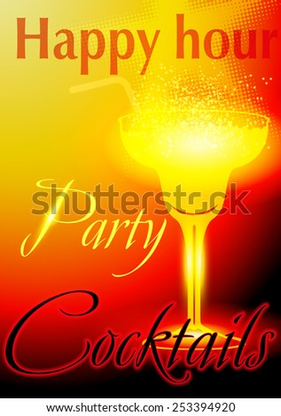 coctail bar design template  - stock vector
