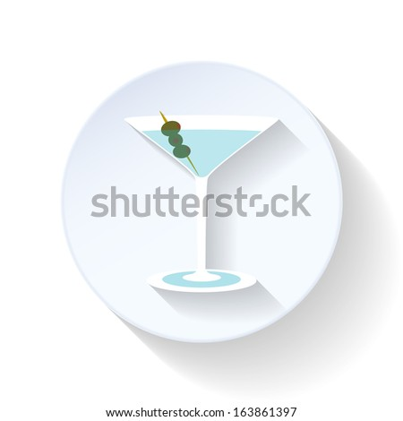 Coctail design flat icon
