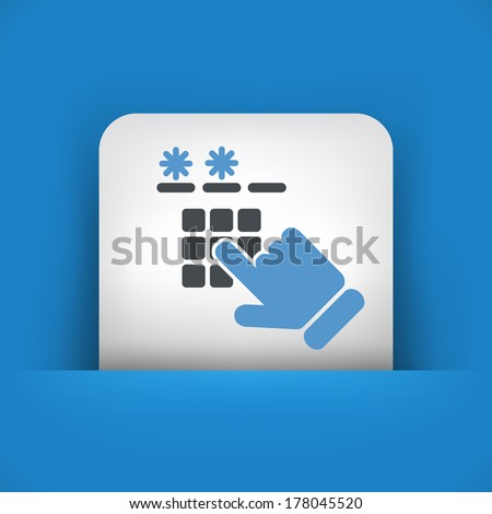 Code access - stock vector