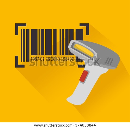 code bar design  - stock vector