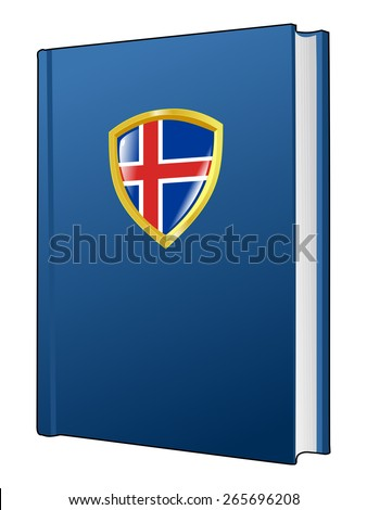 code of laws of Iceland - stock vector