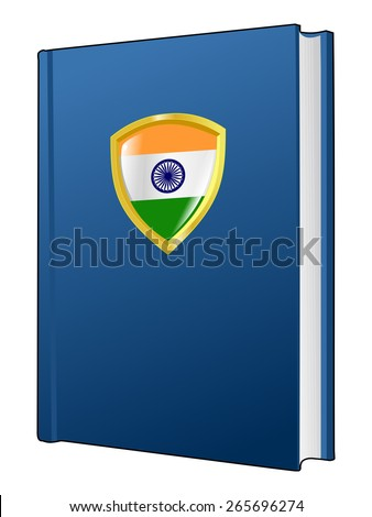code of laws of India - stock vector