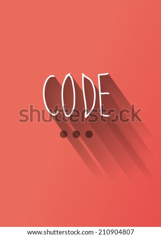 code typo with shadow vector