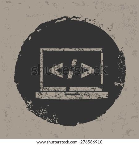 Coding design on grunge background,grunge vector - stock vector
