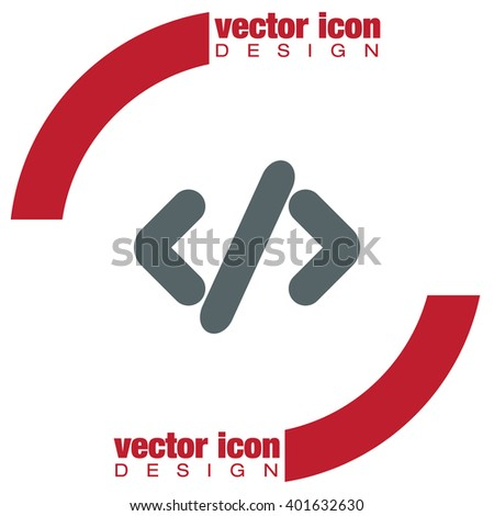 Coding vector icon