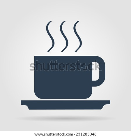 coffe vector illustration. Flat design style EPS