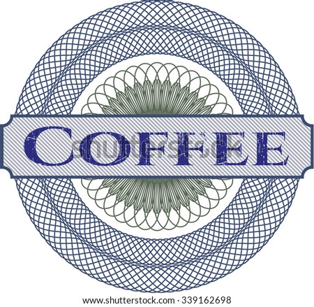 Coffee abstract linear rosette - stock vector