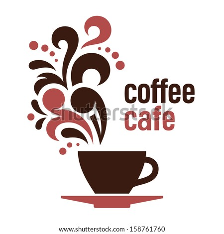 Coffee, abstract vector illustration - stock vector
