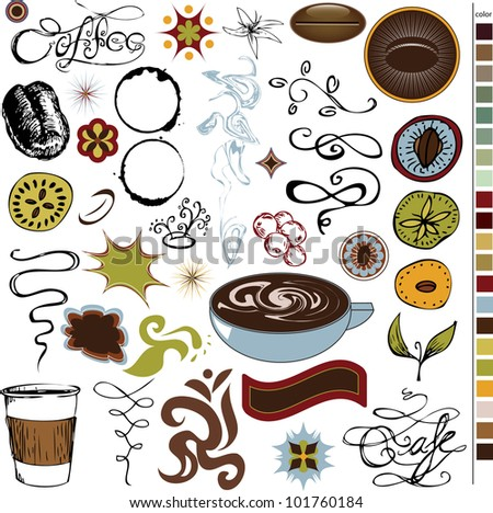 Coffee and Cafe Graphic Elements