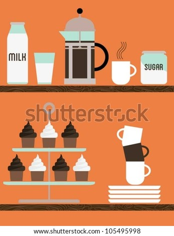 Coffee and Cakes - stock vector
