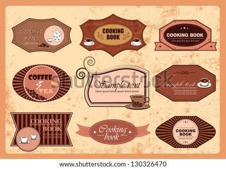 Coffee And Cooking Badges - Vector Illustration, Graphic Design Editable For Your Design - stock vector