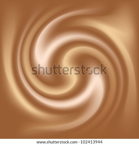 coffee and milk abstract texture - stock vector