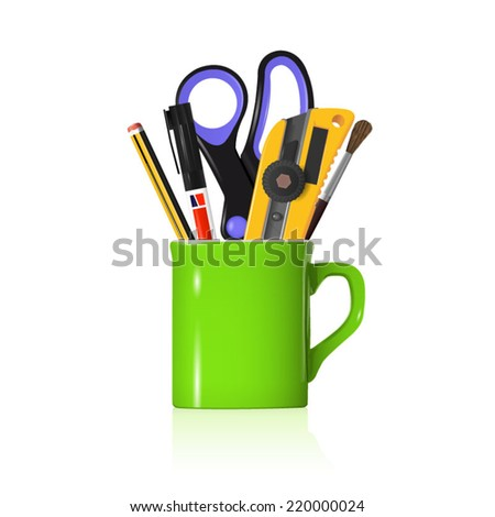 Coffee and Work - stock vector