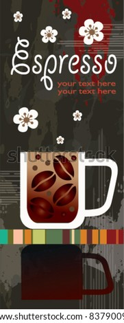 coffee around the world - set of four banners - stock vector