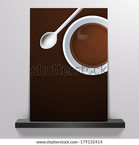 Coffee background Flyer  - stock vector