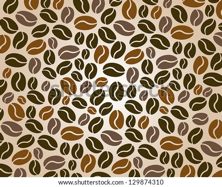 coffee background three color. coffee concept - stock vector
