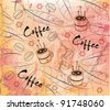 coffee background, wrapping paper - stock vector