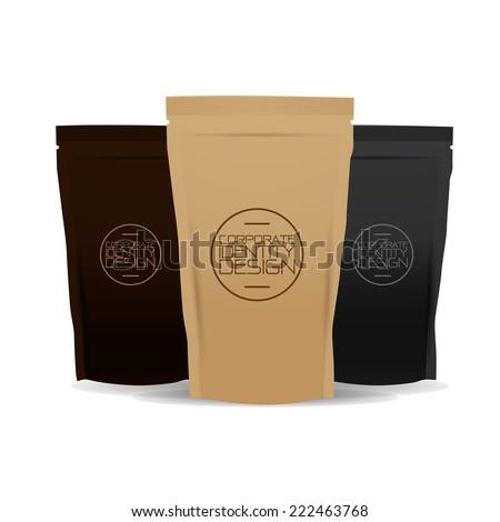 coffee bag - stock vector