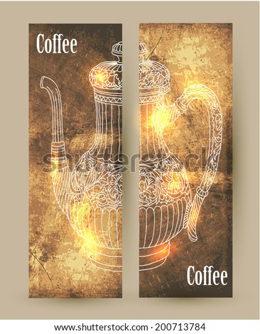 coffee. banner - stock vector