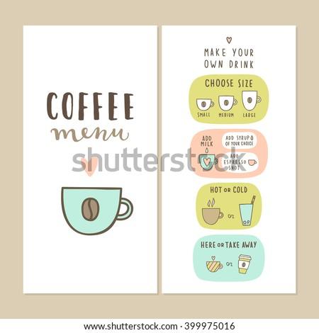 coffee bar menu template make your stock vector royalty free