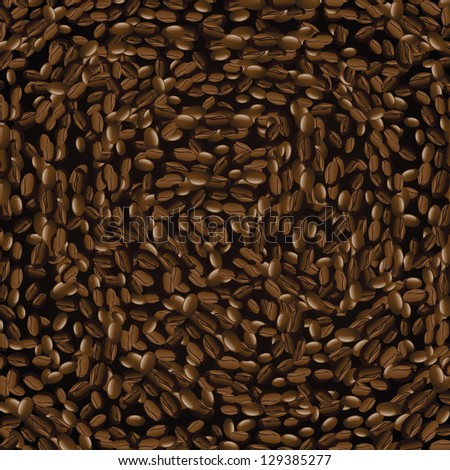 Coffee Bean Background. EPS 8 vector, no open shapes or paths.