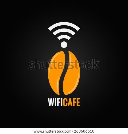 coffee bean design background - stock vector