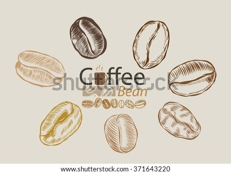 Coffee bean logos