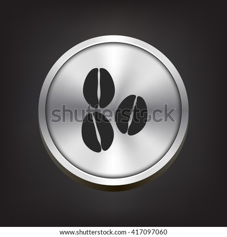 coffee beans icon. coffee beans sign - stock vector