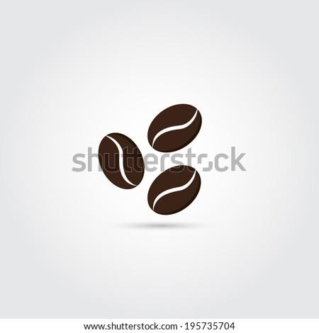 Coffee beans icon - Vector - stock vector