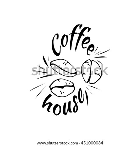 Coffee beans logo: coffee house. - stock vector