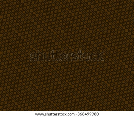 Coffee beans pattern. There is the seamless tile in swatch panel. - stock vector