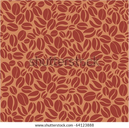 Coffee beans seamless pattern - stock vector