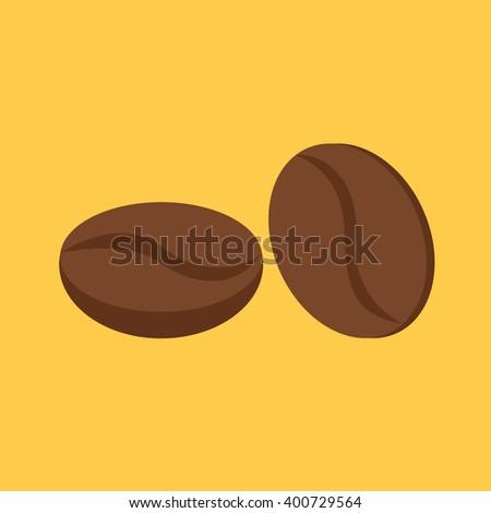 coffee beans - vector - stock vector