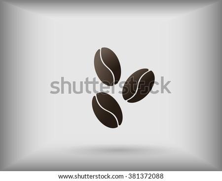 Coffee beans vector icon - stock vector